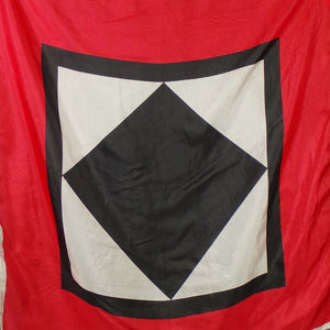 1980s Red, Black and White Squares Silk Scarf
