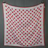 1980s Red and White Spotted Designer Square Scarf, by J. Mico Sancho