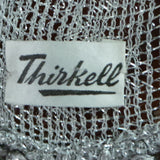 1950s Silver Lurex Long Shawl by Thiskell