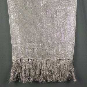 1950s Silver Lurex Long Shawl Scarf by Thiskell