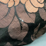 1930s Cocoa Brown Rose Brocade Top Handled Fabric Bag
