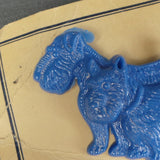 1950s Blue Pair of Scottie Dogs Early Plastic Brooch