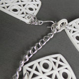 1960s White and Silver Noughts Crosses Square Chain Belt