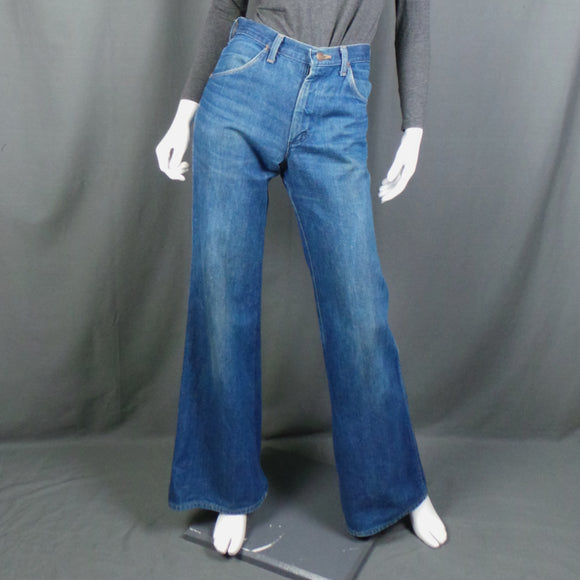 1960s Wrangler Mid Blue Wash Flares, 29in Waist
