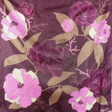 1960s Purple and Pink Peony Scarf, by Clifford Bond