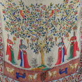 1970s Fine Silk Indian Tree of Life Print Scarf