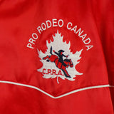 1980s Red Canadian Pro Rodeo Bomber Jacket, 46in Chest