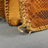 1940s Snakeskin Leather Tan Brown Bag