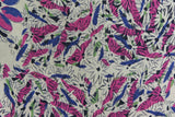 1940s Purple and Pink Floral Print Hankie Pocket Square