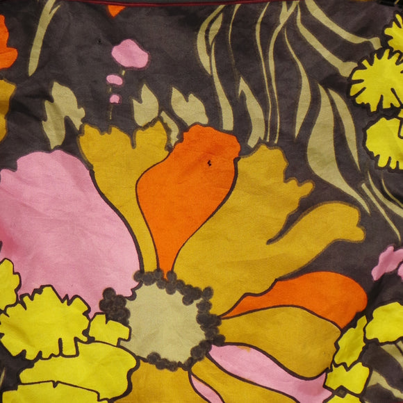 1960s Golden Yellow Flower Power Pocket Square
