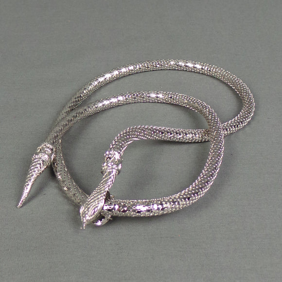 1980s Silver Snake Clamp Belt