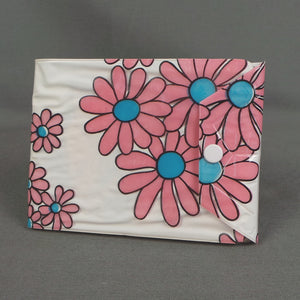 1970s Pink Daisy Flower Power Pocket Photo Album