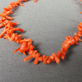 1950s Short Coral Choker Style Necklace