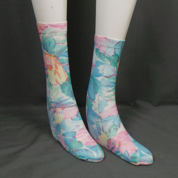1980s Mary Quant Floral Bloom Pop Socks