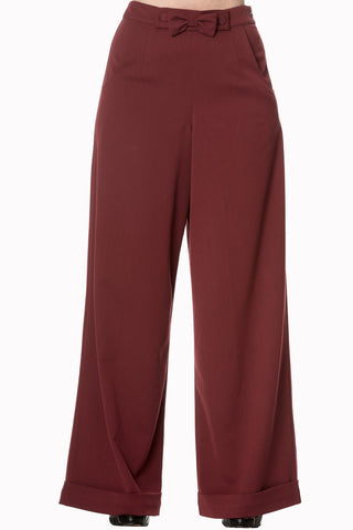 SWING BURGUNDY TROUSERS