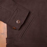 1932 Roadster Jacket Moleskin dark brown Pike Brothers