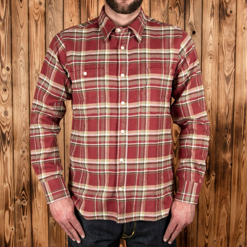 1937 Roamer Shirt oliv red flannel PIKE BROTHERS