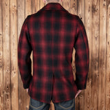 1938 Pea Coat red check wool Pike Brothers