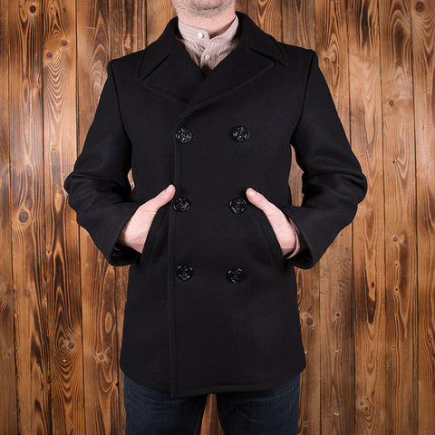 1938 Pea Coat black wool
