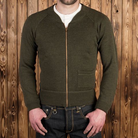 1943 C2 Sweater oliv drab Pike Brothers