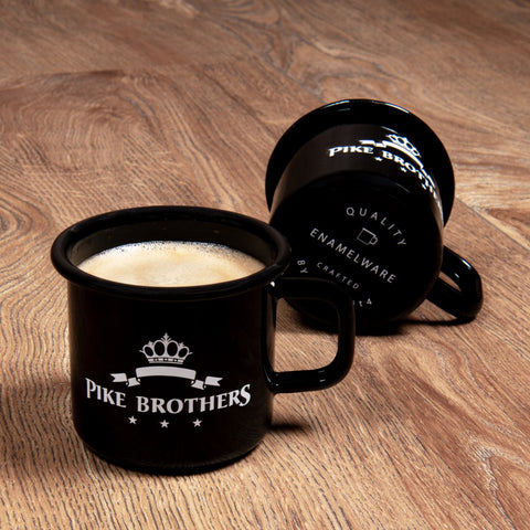 1951 Pike Brothers Enamel Mug black Pike Brothers