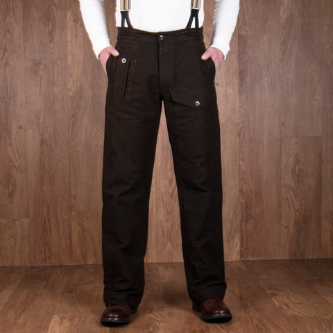 1952 Pattern Trousers Moleskin soil brown Pike Brothers