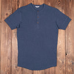 Camiseta Pike Brothers repro 1927 Henley Shirt short sleeve dos colores Indigo y Rojo Granate