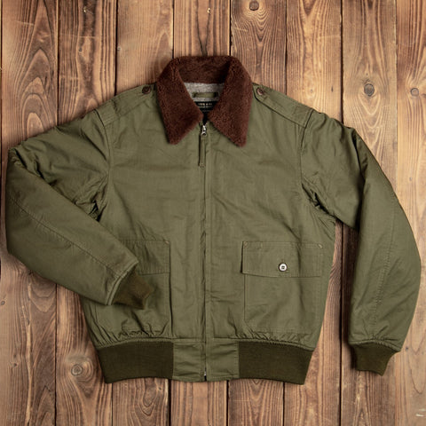 1943 B-10 Flight Jacket olive drab Pike Brothers