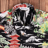 Camisa Hawaiana 1937 Roamer Shirt Short sleeve Miyamato black Pike Brothers