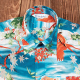 Camisa Hawaiana 1937 Roamer Shirt Short sleeve Miyamato blue Pike Brothers