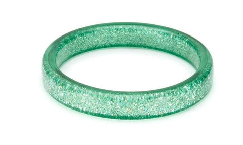 Teal Glitter Bangle Splendette