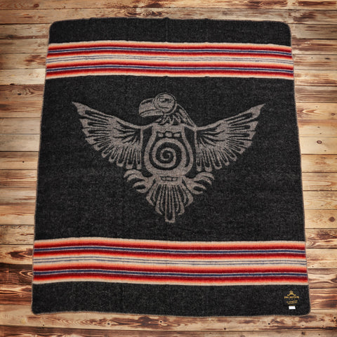 1969 Denakatee Depakatè wool blanket faded black Pike Brothers
