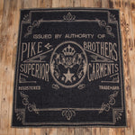1969 Logo blanket faded black Pike Brothers