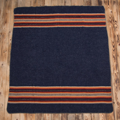 1969 Denakatee wool blanket navy Pike Brothers