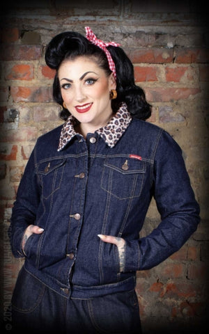 Female Denim Jacket with leo lining Rumble 59