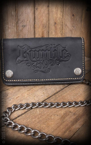 Leather Wallet - black  Rumble 59