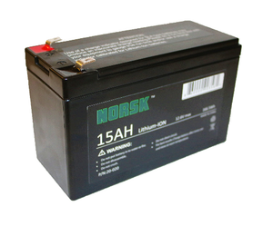 NORSK 15Ah Lithium Ion Flasher Battery for Vexilar, Marcum, Humminbird