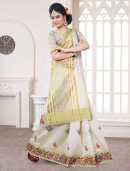 Off White Color Art Silk Casual Party Sarees : Pushpi Collection  YF-54477