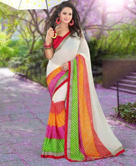 Multi Color Georgette Festival & Function Sarees : Jeevika Collection  YF-27329