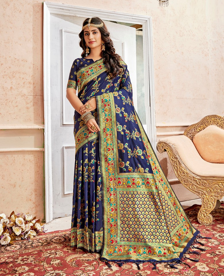 Blue Color Art SilkTraditional Wear Saree Nahita Collection YF#11748