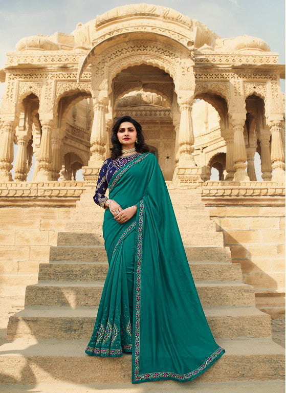 Ramagreen Color Dupian Silk Festive Wear Sarees -  Rabhya Collection  YF#10849