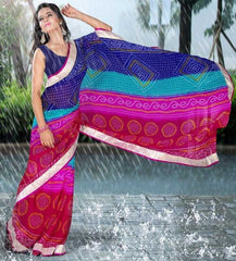 Multi Color Georgette Festival & Function Sarees : Jeevika Collection  YF-27333