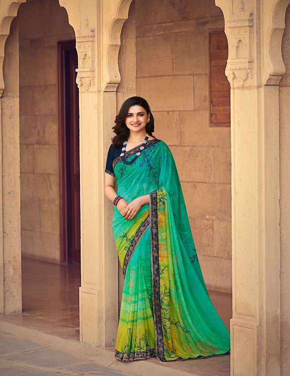 Multi Color Georgette Casual Wear Saree -  Nidra Collection  YF#10862