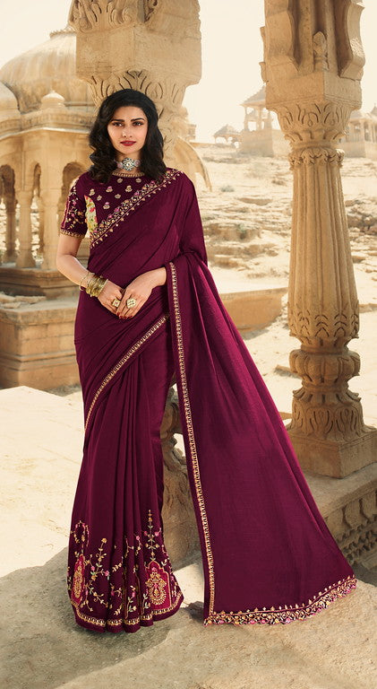 Magenta Color Dupian Silk Festive Wear Sarees -  Rabhya Collection  YF#10852