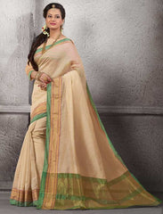Light Coffee Color Cotton Festival & Function Wear Sarees : Nilita Collection  YF-48335