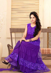 Purple Color Readymade Suits (Size - XL - 42) : Navratri Collection  YF-20094