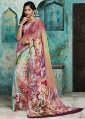 Multi Color Georgette Casual Party Sarees : Trishya Collection  YF-45122