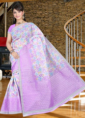 Pinkish Purple Color Cotton Daily Wear Sarees : Jivika Collection  YF-41736