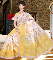 Yellow Color Cotton Daily Wear Sarees : Jivika Collection  YF-41737