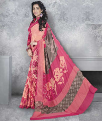 Peach & Pink Color Georgette Office Wear Sarees : Dipshir Collection  YF-51796
